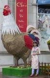 Decorações da rua na cidade de Ho Chi MInh Fotografia de Stock