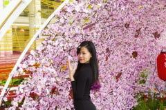 Decorações da rua na cidade de Ho Chi MInh Fotos de Stock Royalty Free