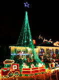 Decorações das luzes de Natal Fotografia de Stock