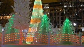 Decorações do Natal na cidade video estoque