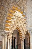 Decorações Mudejar nos Alcazars reais de Sevilha, Espanha Fotografia de Stock Royalty Free