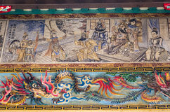 Decorações na parede chinesa do templo Imagem de Stock Royalty Free