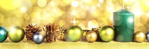 Decoraion vert de Noël Photographie stock libre de droits