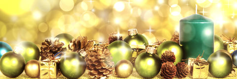 Decoraion vert de Noël Photos stock