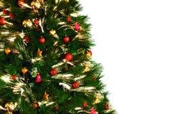 Decoraition del árbol de navidad en el fondo blanco Imágenes de archivo libres de regalías