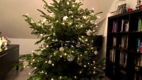 Decorando a árvore de Natal video estoque