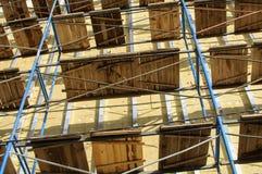 Decorando as paredes do calor propale lajes da isolação foto de stock royalty free