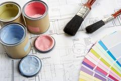 Decorando ferramentas e materiais Imagem de Stock Royalty Free