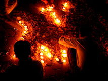 Decorando luzes Imagem de Stock Royalty Free