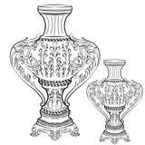 Decoração barroco imperial fabulosa excelente do vaso Foto de Stock