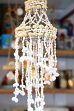 Decoração branca de vime na porta. Fotografia de Stock Royalty Free