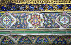 Decoração cerâmica na parede do templo Fotos de Stock Royalty Free