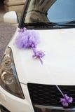 Decoração do carro do casamento Imagens de Stock
