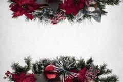 Decoração do cartão de cumprimentos do Natal dos feriados Fotos de Stock Royalty Free