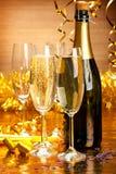 Decoração do partido de ano novo Fotos de Stock Royalty Free