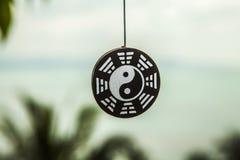 Decoração do sinal de Ying yang Fotografia de Stock