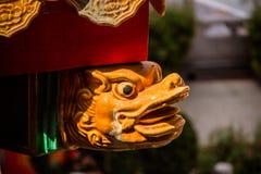 Decoração do telhado da estátua do dragão Foto de Stock
