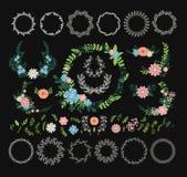 Decoração floral da grinalda Imagem de Stock
