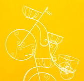 Decorate bicycle. Stock Photography