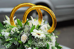 Decorate of the car of the bride Stock Photo