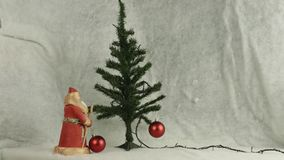 Decorate the Christmas tree stock video