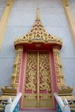 Decorate door at thai temple. Royalty Free Stock Photos