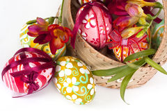 Decorate Easter Eggs Royalty Free Stock Images