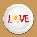 Decorate food with LOVE on a plate Royalty Free Stock Photos