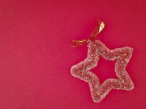 Decorate red star Royalty Free Stock Photo