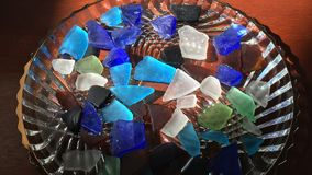 Decorate with Sea Glass Royalty Free Stock Photos
