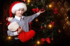 Decorate a tree Royalty Free Stock Photo