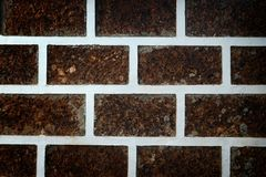Decorate wall with laterite stone. Royalty Free Stock Image