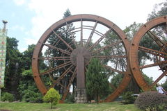 Decorate the waterwheel in SHENZHEN Splendid China Stock Photography