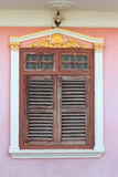 The decorate windows. The decorate windows take a photo at Phuket town, Thailand Stock Image