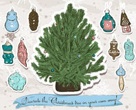 Decorate Your own Christmas tree! Royalty Free Stock Photos