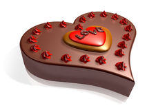 Decorated 3d chocolate cake Stock Image