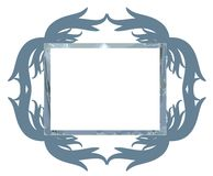 Decorated abstract frame isolated Stock Photography