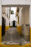 Decorated alley Evora Portugal Stock Photo