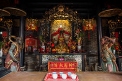 Decorated altar at the Pak Tai Temple in Hong Kong Stock Images