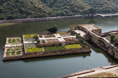 Decorated Amber Fort Garden Royalty Free Stock Photo