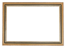 Decorated ancient wooden picture frame Royalty Free Stock Photos