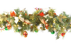Decorated And Lit Garland Royalty Free Stock Photo