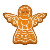 Decorated angel figure. Gingerbread cookie. Holiday symbol.  Sweet bakery Stock Image