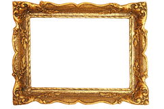 Decorated antique painting frame Royalty Free Stock Photos