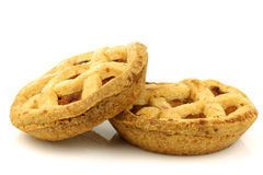 Decorated apple pies Stock Photography