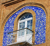Decorated arabic style balcony Royalty Free Stock Photo