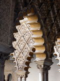 Decorated arches and columns in the Alhambra Stock Photos