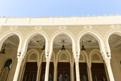 Decorated arches of a mosque Stock Photo