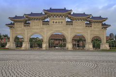 The decorated archway of Chiang Kai shek Memorial Hall Stock Photography