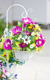 Decorated Artificial Flowers. Stock Image